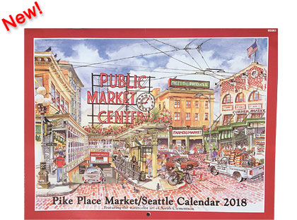 2018 Calendar - Pike Place Market - Seattle