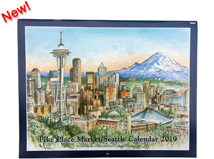 2019 Calendar - Pike Place Market / Seattle