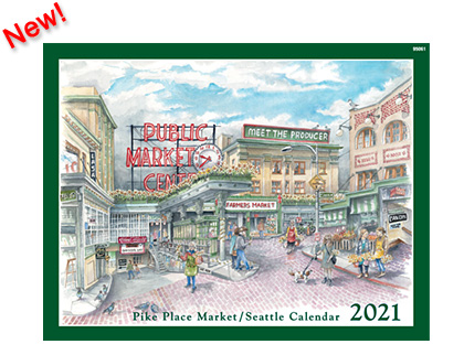 2021 Calendar - Pike Place Market / Seattle