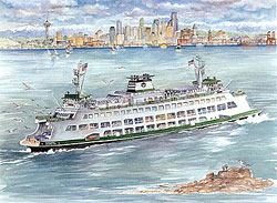 WA State Ferry, M.V. Tacoma Limited Edition Print